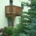 Hausansicht Balkon